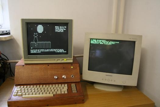 Dual monitor setup.